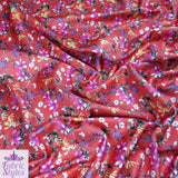 FS123_2 Orange Red Base Floral | Fabric Styles