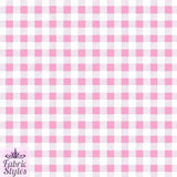FS130_2 Pink Gingham Print Checked | Fabric Styles