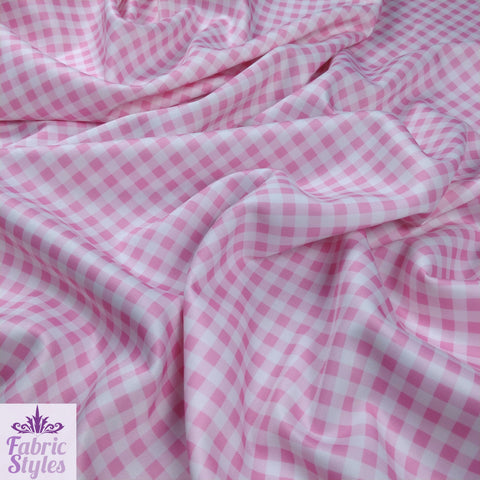 FS130_2 Pink Gingham Print Checked
