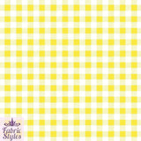 FS130_4 Yellow Gingham Print Checked | Fabric Styles