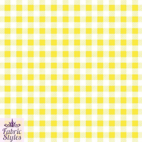 FS130_4 Yellow Gingham Print Checked