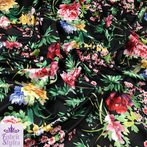 FS132 Tropical Floral Scuba Fabric