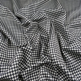 FS148 Black White Dogtooth Print | Fabric Styles