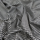 FS148 Black White Dogtooth Print
