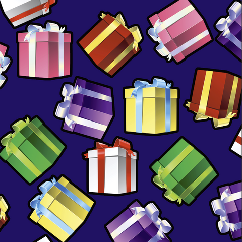 FS158 Presents Gifts Purple Base | Fabric Styles