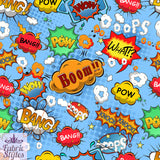 FS161_1 Comic Boom Bang Pow Print *EXCLUSIVE*