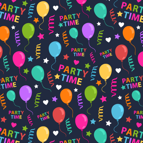 FS163 Party Time Balloons | Fabric Styles
