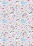 FS169_5 Unicorn Fabric - Grey | Fabric Styles