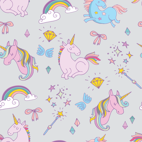 FS169_5 Unicorn Fabric - Grey