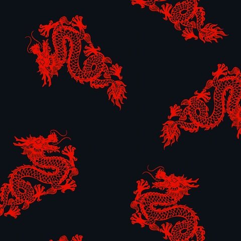 FS424_1 Red Dragon | Fabric Styles