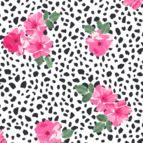 FS440 Floral polka Dots | Fabric Styles