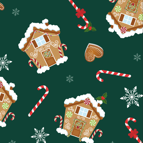 FS602 Gingerbread House | Fabric Styles