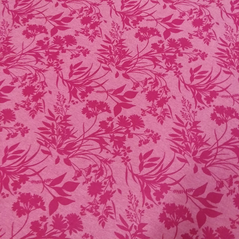 3.8m Pink Floral Fabric