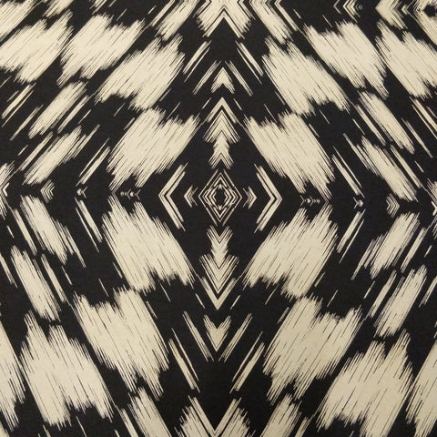 2m Black Tie Dye Fabric