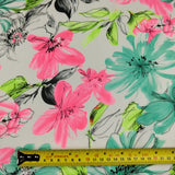 FS137 Pink Floral Woven Chiffon Fabric