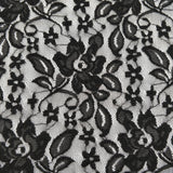 FS061_1 Lace Floral Fabric Black/Ivory | Fabric Styles