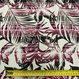 ONE-OFF 4.2m Pink Striped Tropical Palm Print