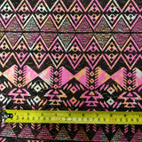 ONE-OFF 4.2m Aztec Ethnic Pink Fabric