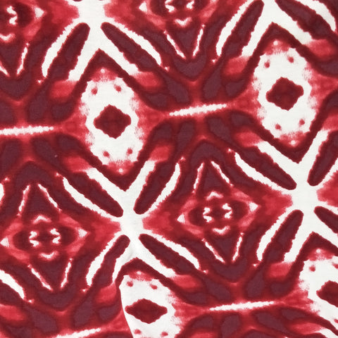 Red Tie Dye Fabric