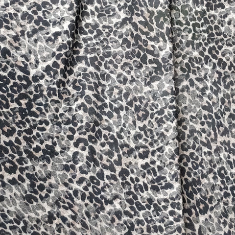 Black Brown Animal Print Burnout Fabric