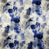 FS116_1 Blue Powder Paint Cloud Print | Fabric Styles
