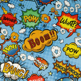 FS161_1 Comic Boom Bang Pow Print *EXCLUSIVE* | Fabric Styles