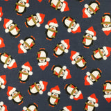 FS155 Penguin Santa Navy Base | Fabric Styles