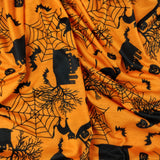 FS160 Halloween Haunted House Print | Fabric Styles