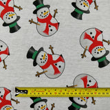 FS030_2 Snowman White Base | Fabric Styles