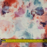 FS116_2 Pink Orange Powder Paint Cloud Print | Fabric Styles