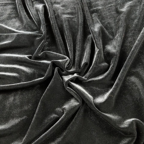 FS143_1 Plain Black Velvet | Fabric Styles