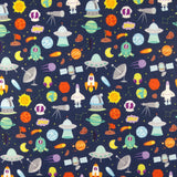 FS176 Space Theme Rockets Planets | Fabric Styles