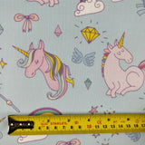 FS169_3 Unicorn Fabric - Blue | Fabric Styles