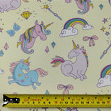 FS169_1 Unicorn Fabric - Yellow