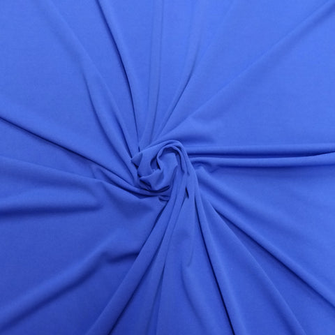 2.5m Plain Royal Blue Scuba Crepe | Fabric Styles