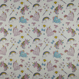 FS169_4 Unicorn Fabric - White | Fabric Styles