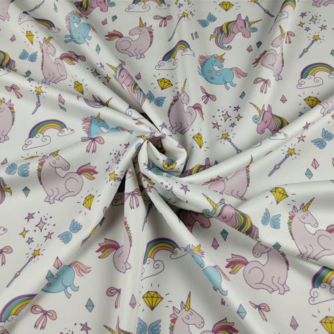 FS169_4 Unicorn Fabric - White
