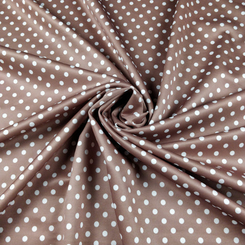 FS168_4 Brown & White Polka Dots