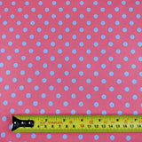 FS168_5 Pink & Purple Polka Dots | Fabric Styles