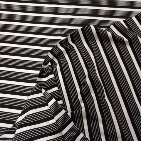 2m Double Jersey Knit Stripe