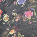 FS219 Floral Power Mesh Black