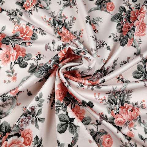 FS225 Light Pink Floral Ribbon