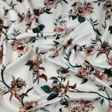FS237 Green Leaf Floral | Fabric Styles