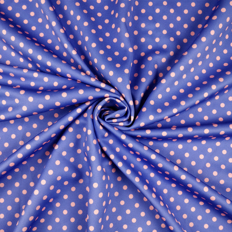 FS168_6 Purple & Orange Polka Dots