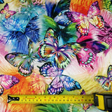 FS204 Multi Colour Rainbow Butterfly | Fabric Styles