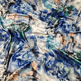 FS004_3 Blue Summer Flower Floral Print | Fabric Styles