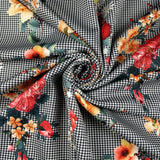 FS244 Floral Dogtooth | Fabric Styles