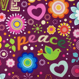 FS182 Love and Peace Floral | Fabric Styles