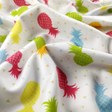 FS247 Pastel Colour Pineapples | Fabric Styles
