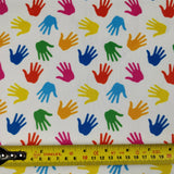 FS263 Multicolour Handprints | Fabric Styles